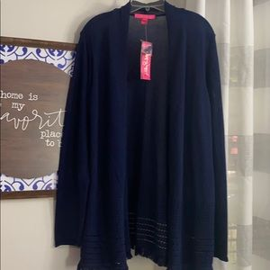 BNWT Lilly Pulitzer Noble Cardigan large navy
